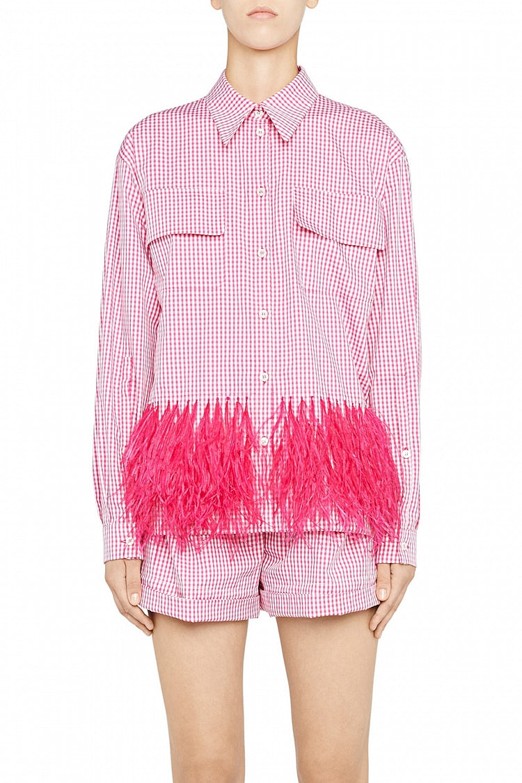 Shirt Feather Pink