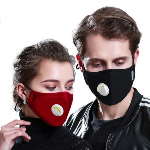 PM2.5  Mask +2 Filters  Breathe Reusable Face Mask Anti for Outdoor Sports Travel Resist Dust Germs Allergies  Mask