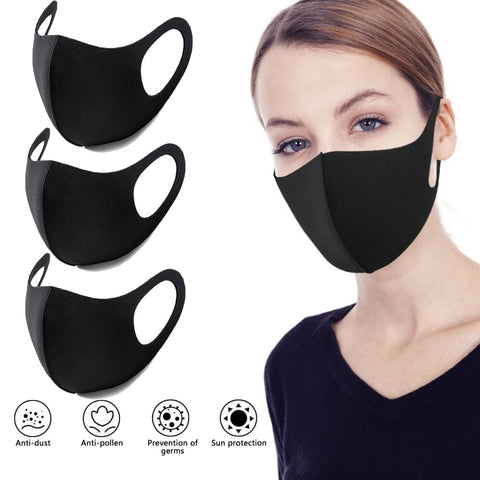 Unisex Outdoor Cycling Face Mask Anti Dust Haze Black Mouth Mask Training Protection Mask Respirator Facemask Gasmask D30
