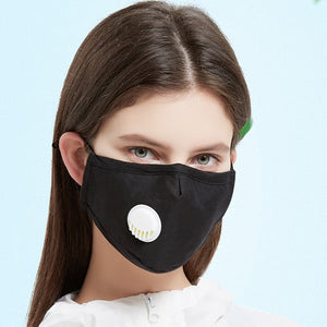 NO.ONEPAUL Anti Pollution PM2.5 Cotton Black Mouth Mask Dust Mask Nursing of Windproof Mask Antibacterial Allergy/Asthma Mask