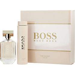 Boss The Scent Eau De Parfum Spray 3.3 Oz & Body Lotion 6.7 Oz