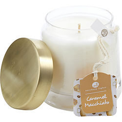 Caramel Macchiato Scented Soy Glass Candle 10 Oz
