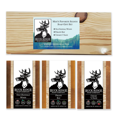 Men's Favorite Scents Soap Gift Set