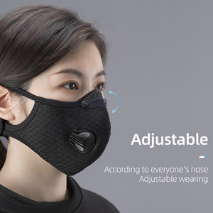 ROCKBROS Bike Mask Men Women Protection Mask 5 Layers Filter Anit-Fog Breathable Dustproof Sports Mouth-Muffle Dust Bike Masks