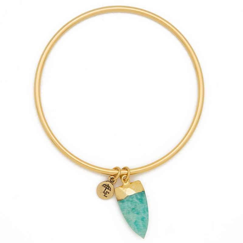 FIND YOUR INNER STRENGTH. Amazonite Arrow Bangle