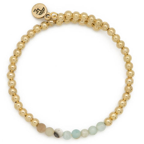 FIND YOUR INNER STRENGTH. Amazonite Gemstone Bangle, 4mm