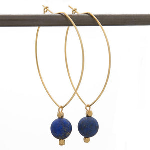 FIND VISION. Lenny Gemstone Earrings, Lapis Lazuli