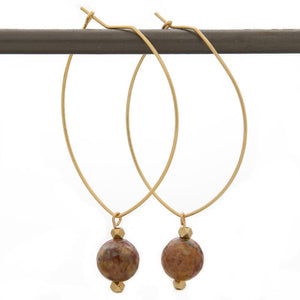 CHOOSE JOY. Lenny Gemstone Earrings, Mexican Agate