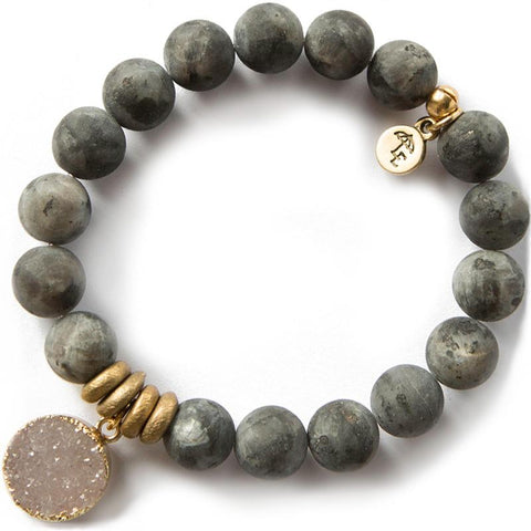ACHIEVE YOUR DREAMS. Labradorite Gemstone Bracelet, 10mm