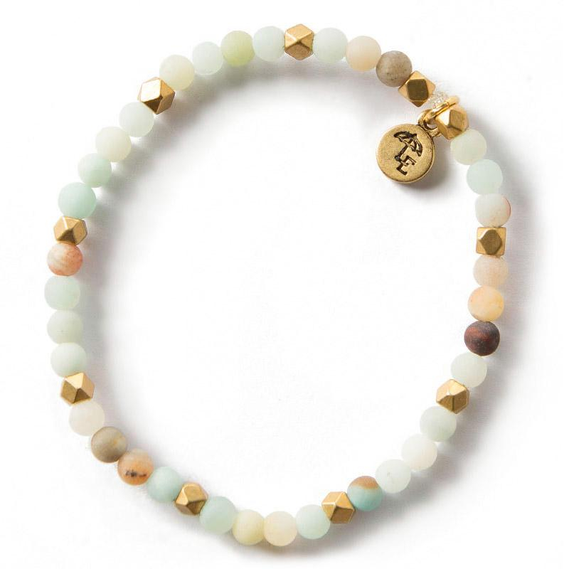 FIND YOUR INNER STRENGTH. Amazonite Gemstone Bracelet, 4mm