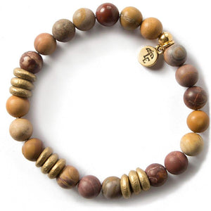 REALIZE YOUR POTENTIAL. Mookaite Gemstone Bracelet, 8mm