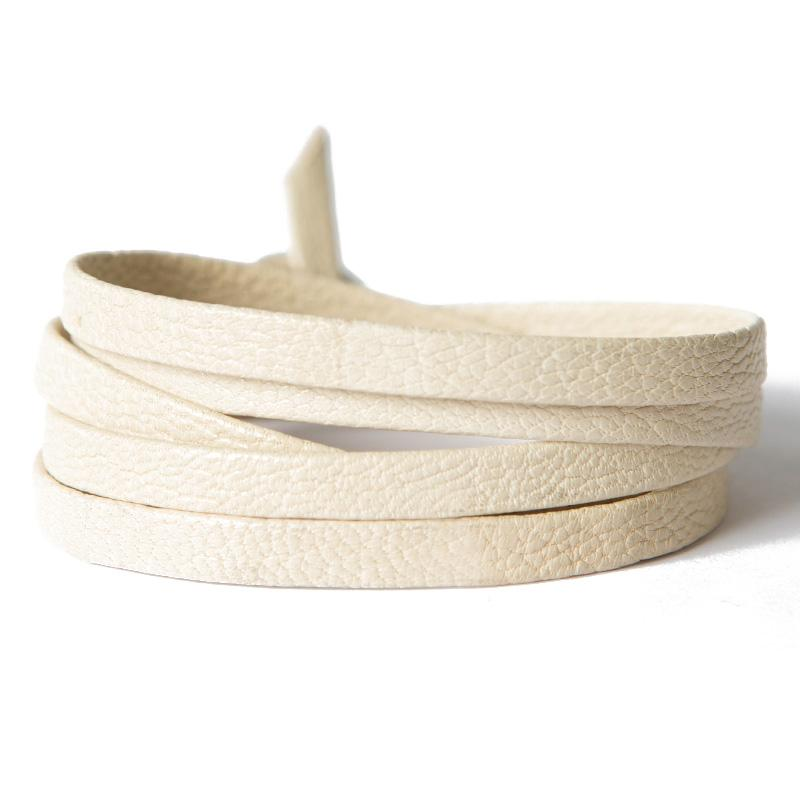 Cream Leather Wrap