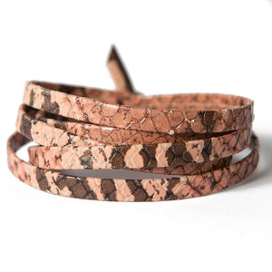 Python-Blush Leather Wrap