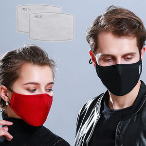 PM2.5 Mouth Mask Anti Dust  Cotton Mask Activated Carbon Filter Windproof Mouth-Muffle Bacteria Proof Flu Face Masks