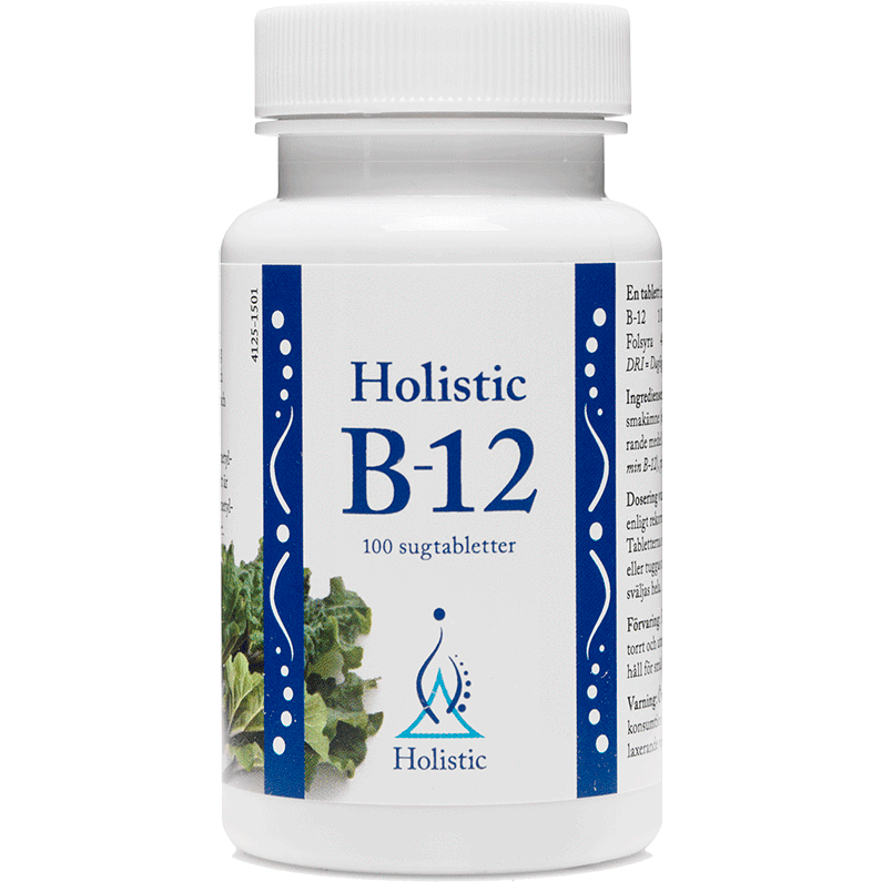 B12-vitamin 100 tabl - nutrients.se
