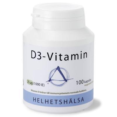 D3-vitamin 1000IE 25 µg 100k veg - nutrients.se
