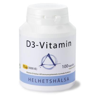 D3-vitamin 3000IE 75µg 100k veg - nutrients.se