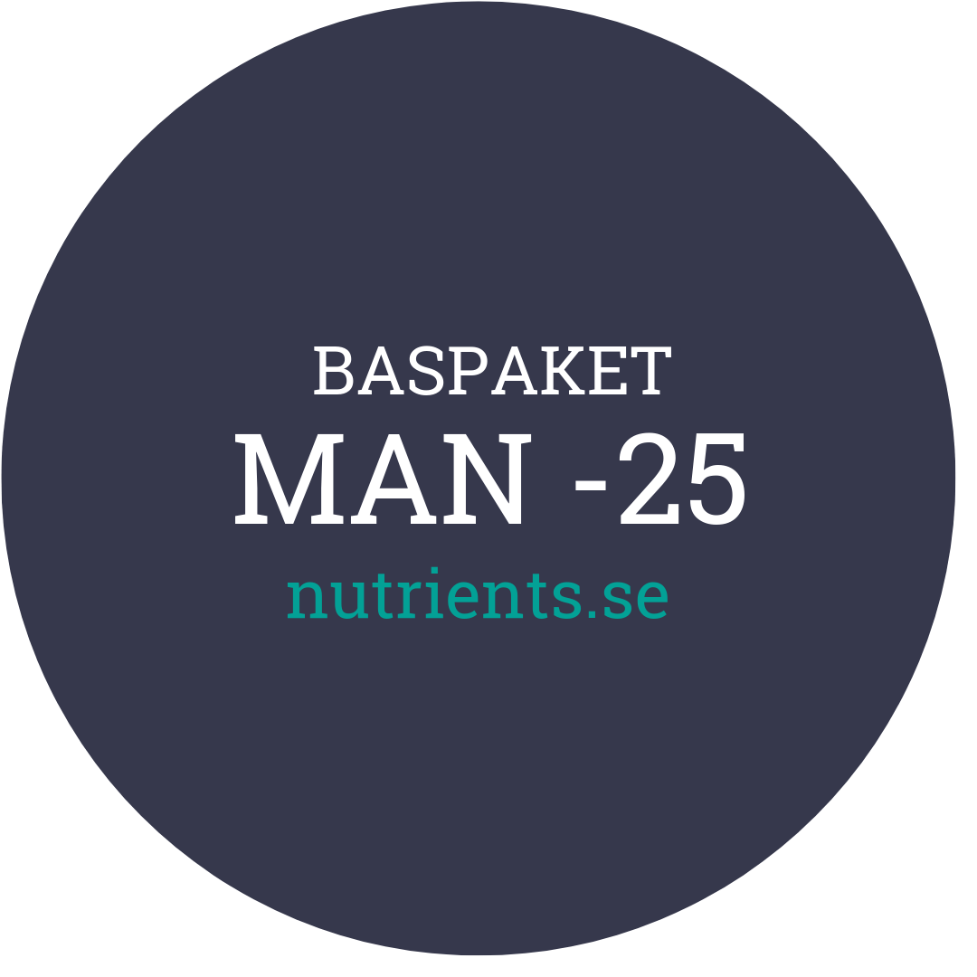 Man -25 - nutrients.se