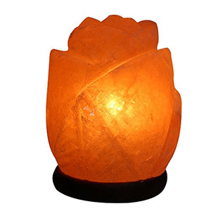 Flower shaped salt lamps