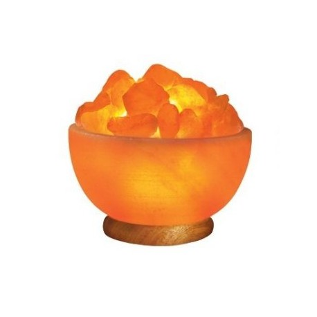 Himalayan Salt Bowl Lamp with Chunks