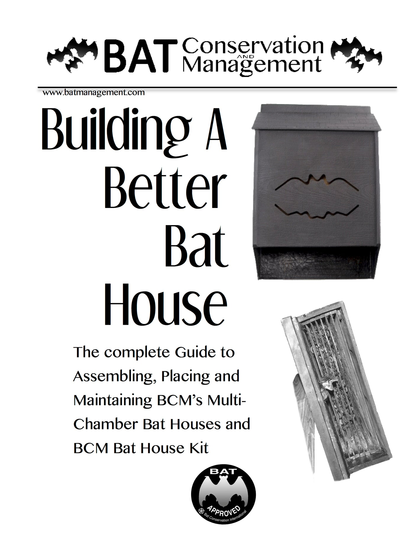 BCM Bat House Plans – Bat Conservation and Management Inc