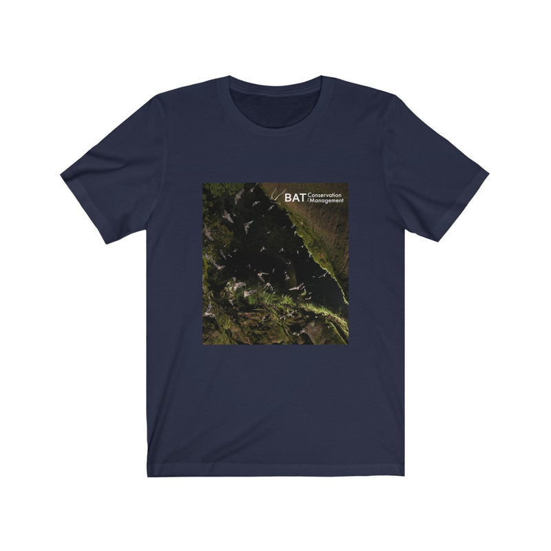 Grey Bat Swarm - Men's Cotton Crew Tee