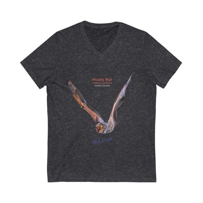 Hoary Bat - Unisex Jersey Short Sleeve V-Neck Tee - 1 side