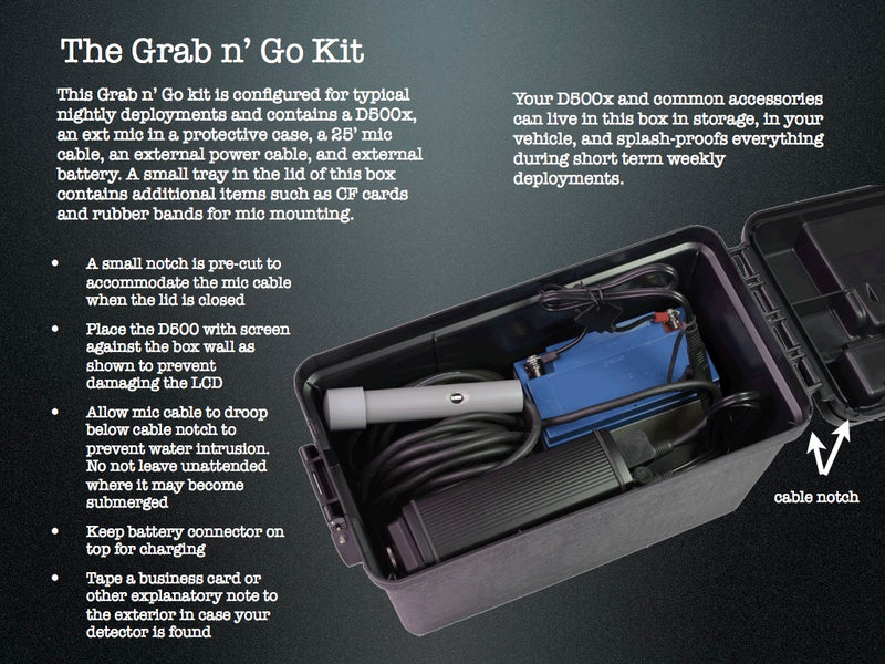 Pettersson D500x Grab and Go Kit