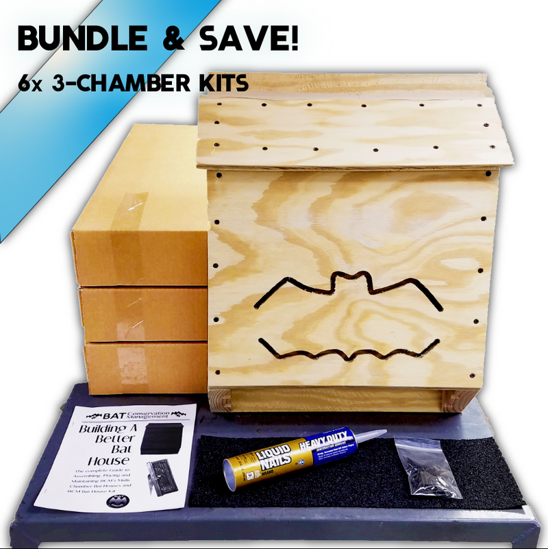 BCM Triple Chamber Bat House DIY Kit
