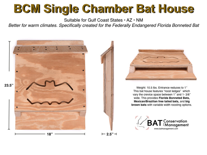 BCM Single Chamber Bat House Kit