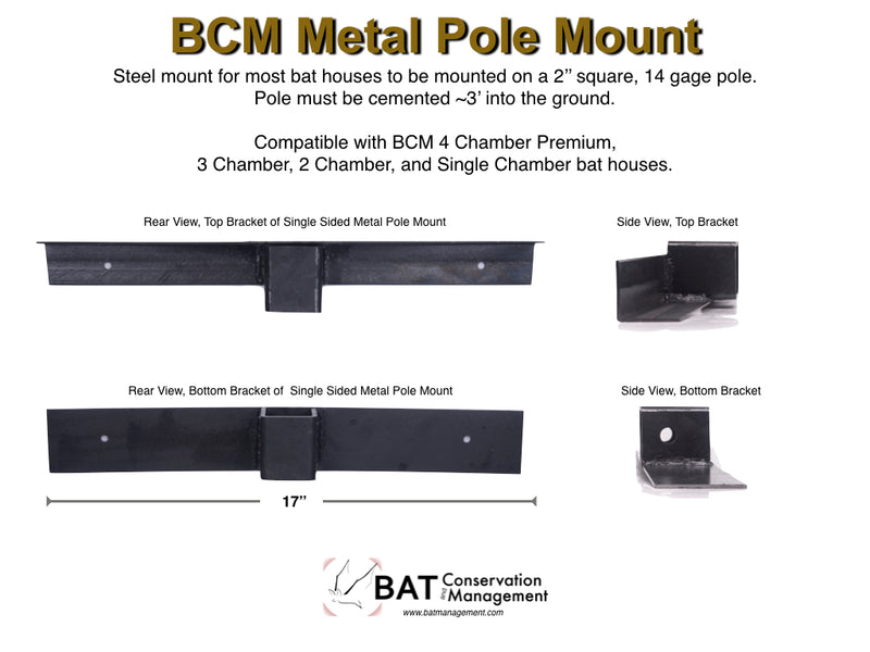 BCM Pole Mount Kit - Metal