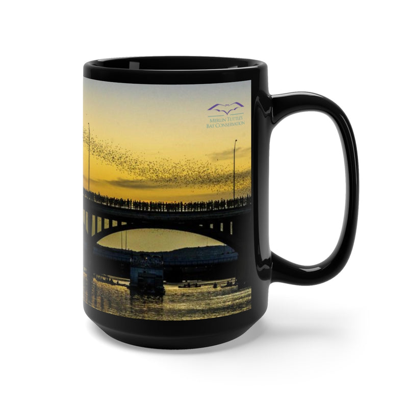 Austin's Bat Bridge #2 Black Mug 15oz
