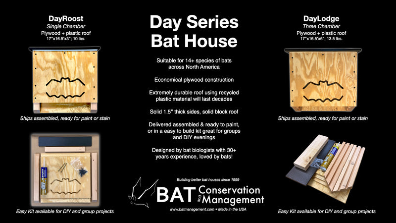 DayRoost - Single Chamber, Plywood, Fully-Assembled Bat House