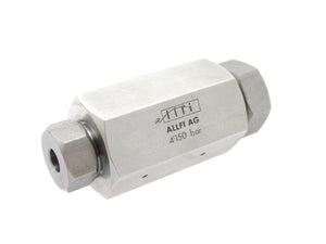 "Allfi Waterjet 1/4"" to 3/8"" Reducer Coupling, 60k Standard/Imperial, Female-Female"