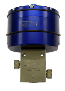 "Allfi Waterjet 3/8"" 2-way Straight Valve - Pneumatic Normally Closed - MetricThread - 60kpsi/4,150bar"