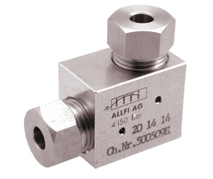 "Allfi Waterjet 1/4"" High Pressure Elbow Fitting - 60kpsi - Standard Thread"