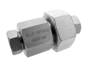 "Allfi Waterjet 3/8"" Bulkhead Union - 60,000psi/4,150bar - Standard/Imperial Thread"