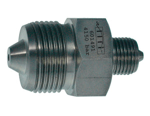 "Allfi Waterjet 1/4"" to 9/16"" Reducer Coupling, 60k Metric, Male to Male"