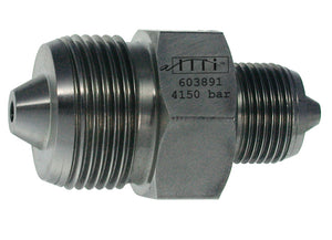 "Allfi Waterjet 3/8"" to 9/16"" UHP Reducer Coupling, 90k Metric, Male to Male"