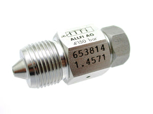 "Allfi Waterjet 3/8"" Male to 1/4"" Female Reducer Coupling, 60k Metric Thread"