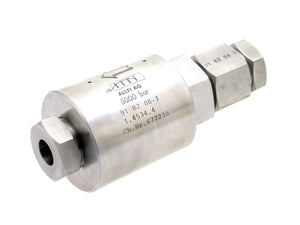 "Allfi Waterjet 9/16"" Back Pressure Valve - In-Line Check Valve (Standard Thread)"
