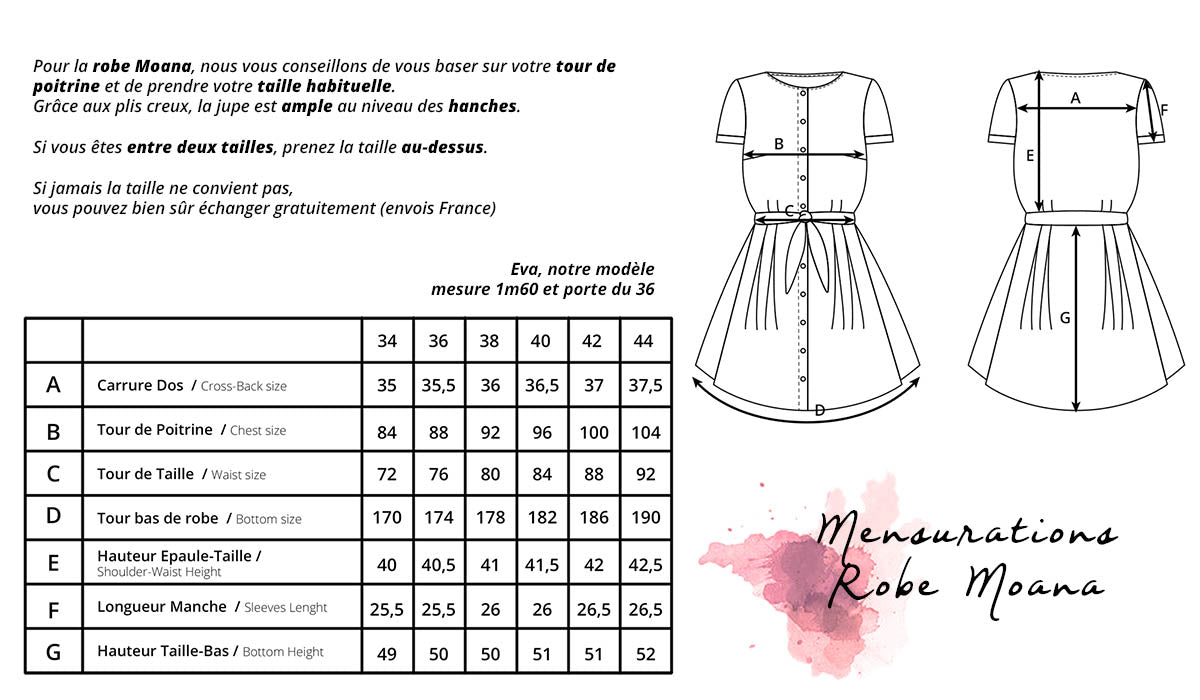 Guide des Tailles_Robe Moana