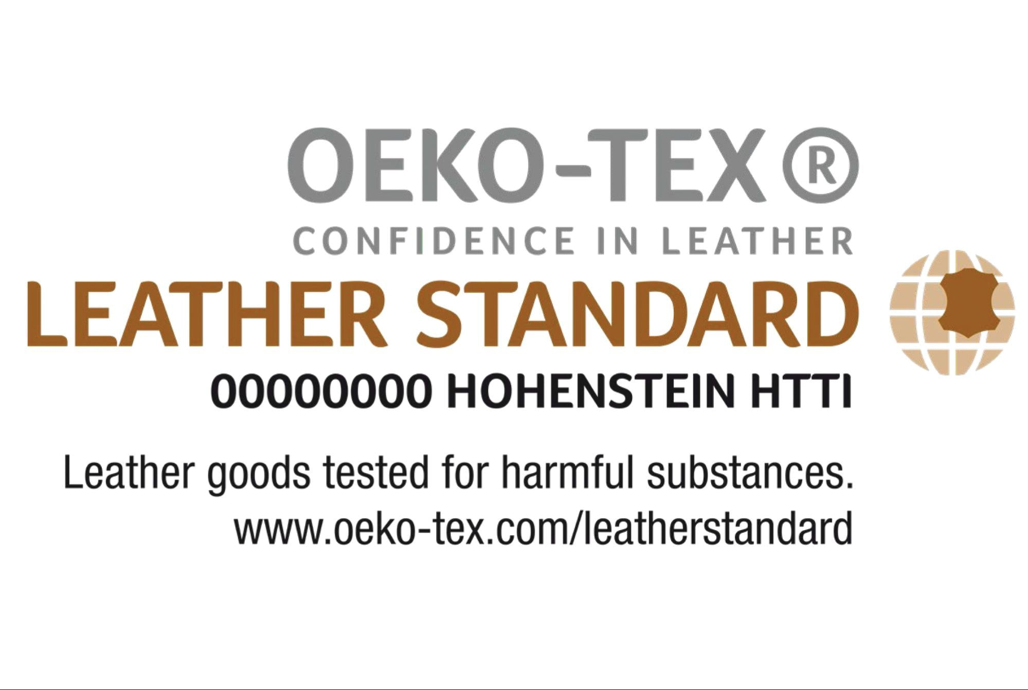 Atelier Unes - Les labels - Certification LEATHER STANDARD by OEKO-TEX®