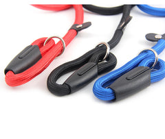Leash With Adjustable Halting Collar