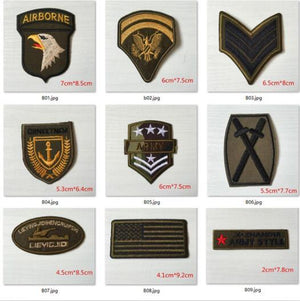 Super Quality 9pcs Mix Military Motif Patch Set
