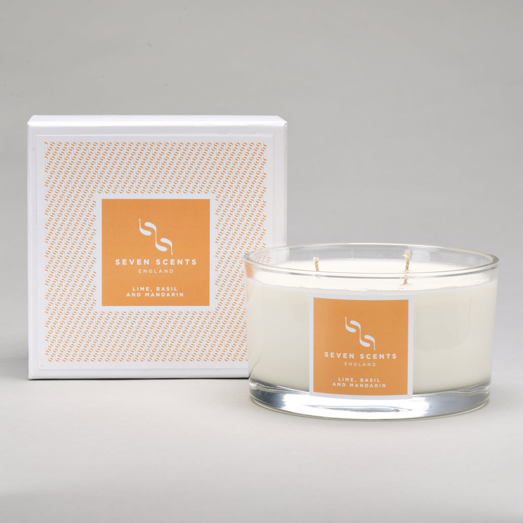 Lime Basil & Mandarin Three Wick