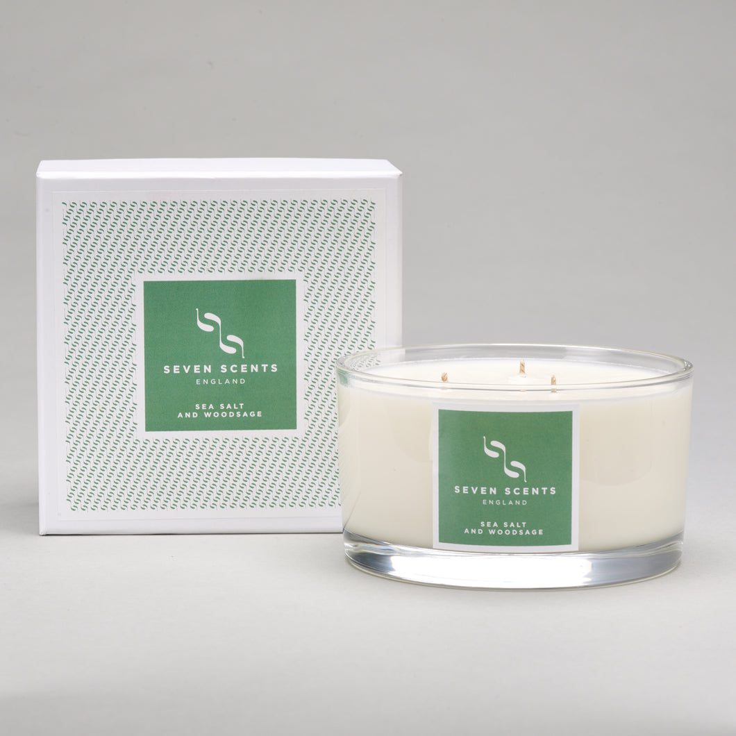 Sea Salt & Wood Sage Three Wick