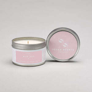 With Love candle tin