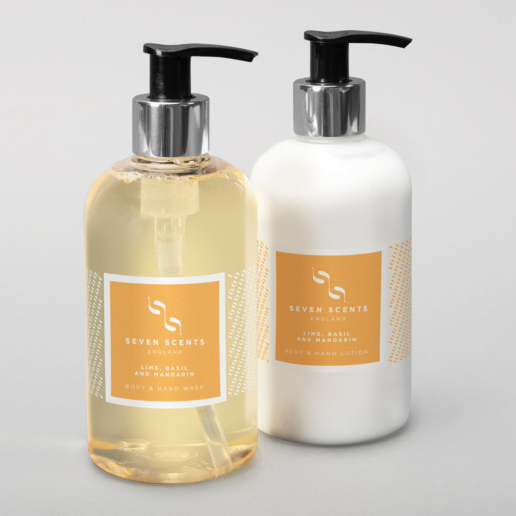 Hand wash and Lotion Collection - Lime, Basil & Mandarin