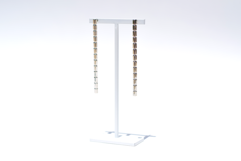 RIBBED COLUMN EARRINGS LONG